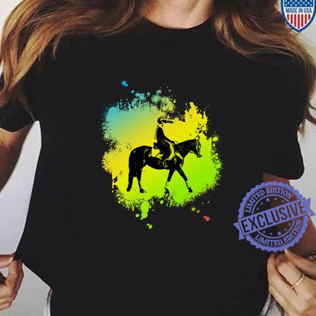 Cute Girl on Horse like riding Shirt ladies tee