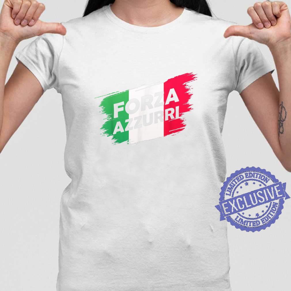 Forza Azzurri Jersey Football Team Italia Forza Azzurri Shirt ladies tee