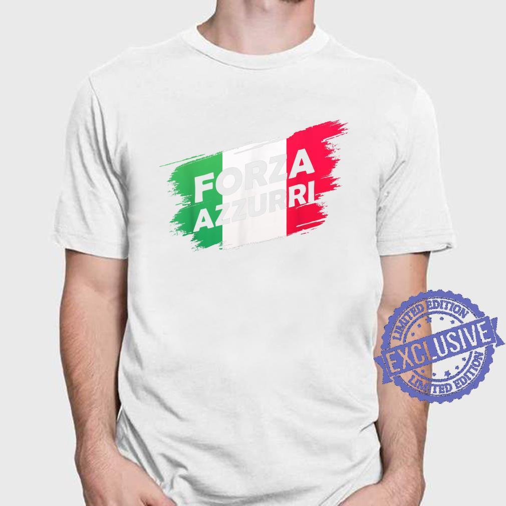Forza Azzurri Jersey Football Team Italia Forza Azzurri Shirt