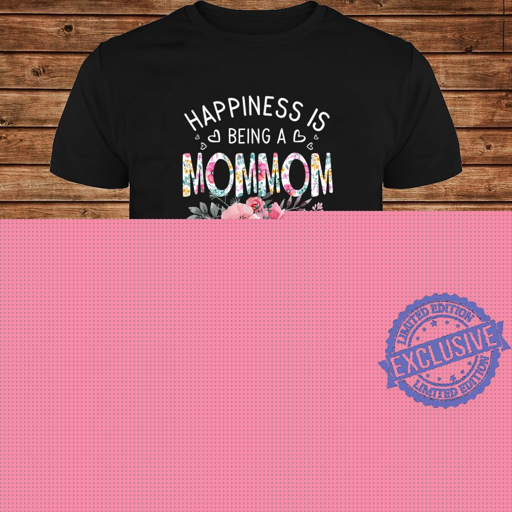 Happiness Is Being A Mommom Shirt Est Mommom Mother's Day Shirt long sleeved