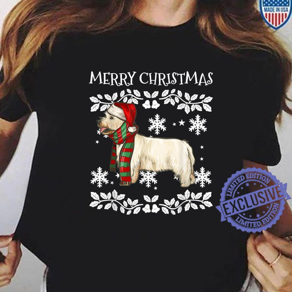 Merry Christmas Ornament West Highland White Terrier Xmas Shirt ladies tee