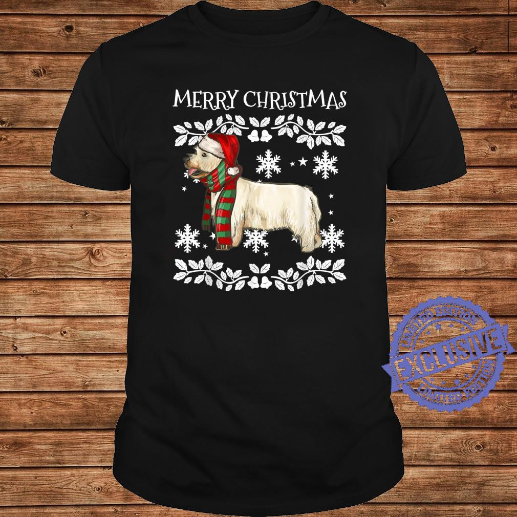 Merry Christmas Ornament West Highland White Terrier Xmas Shirt long sleeved