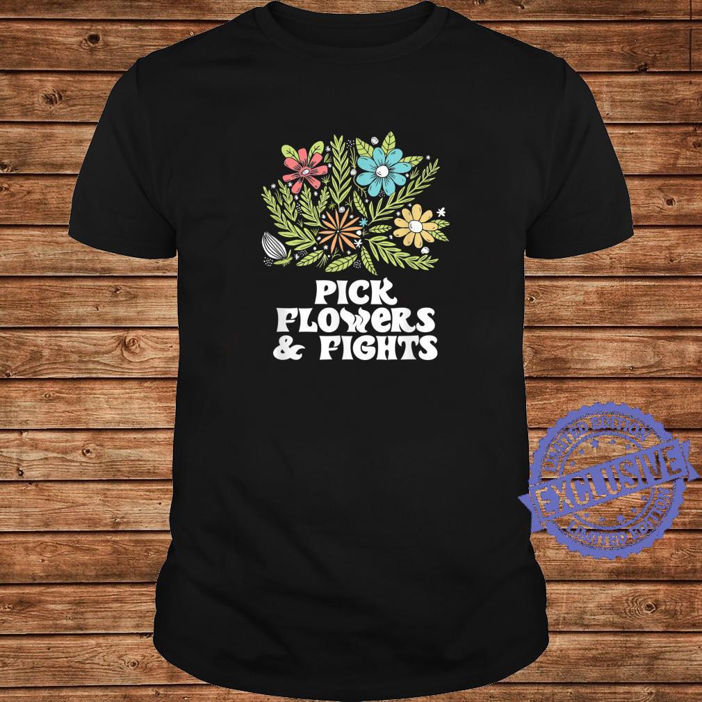Pick Flowers & Fights Tough Gardener Punk Nature Shirt long sleeved