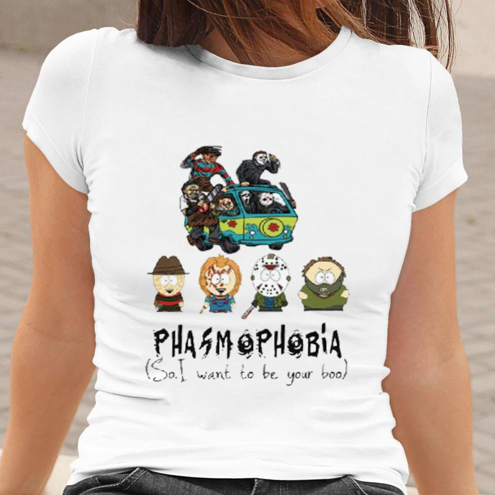 South Park Phasmophobia so i want to be your boo shirt ladies tee