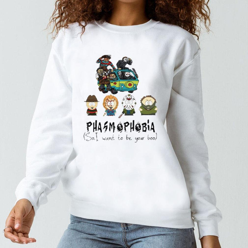 South Park Phasmophobia so i want to be your boo shirt long sleeved
