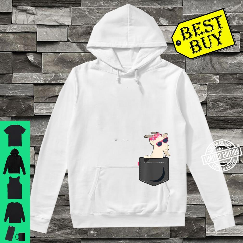 A Goat In Pocket Baby Goat Face Shirt hoodie