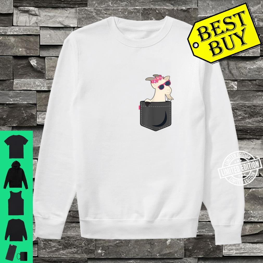A Goat In Pocket Baby Goat Face Shirt sweater