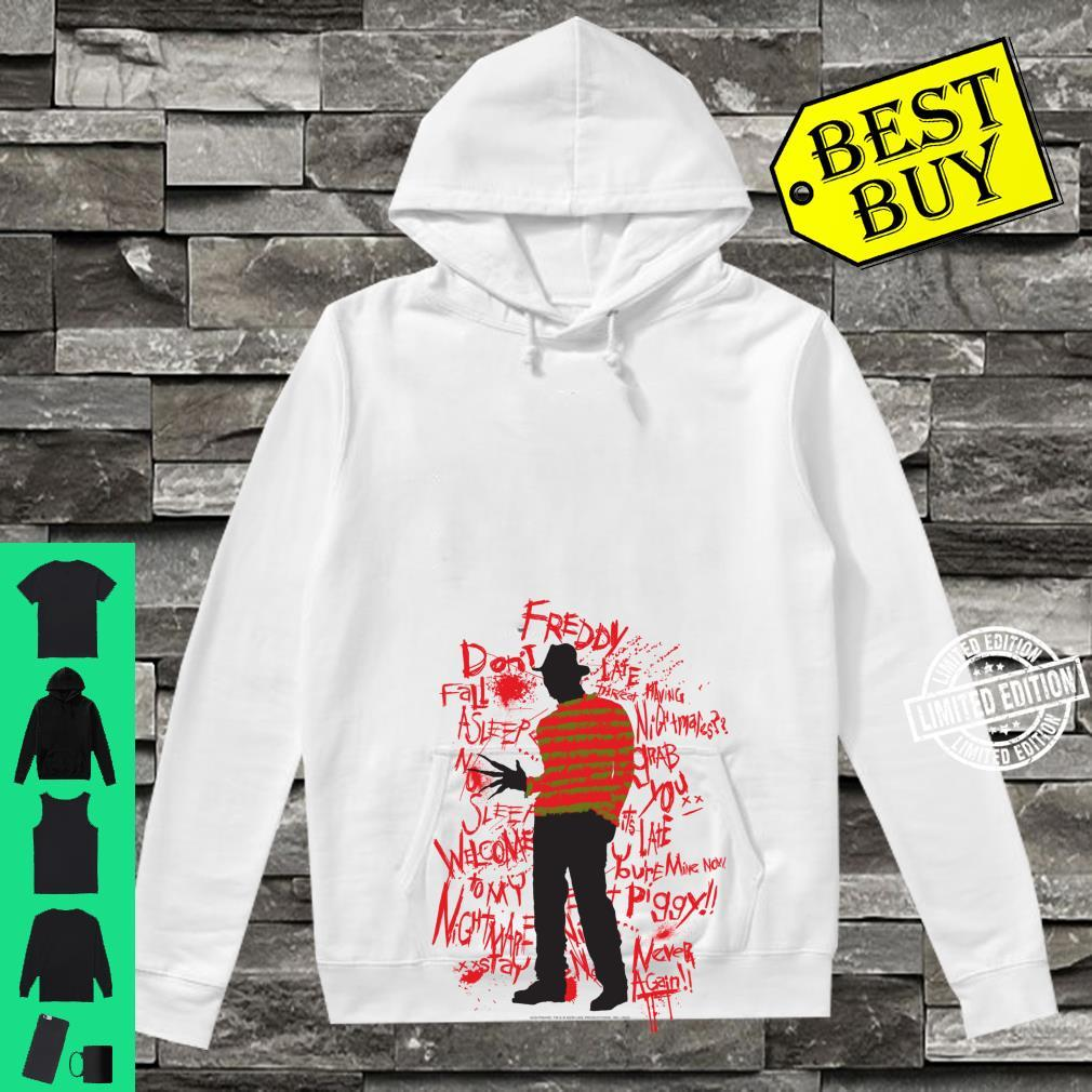 A Nightmare On Elm Street Freddy Quotes Silhouette Shirt hoodie