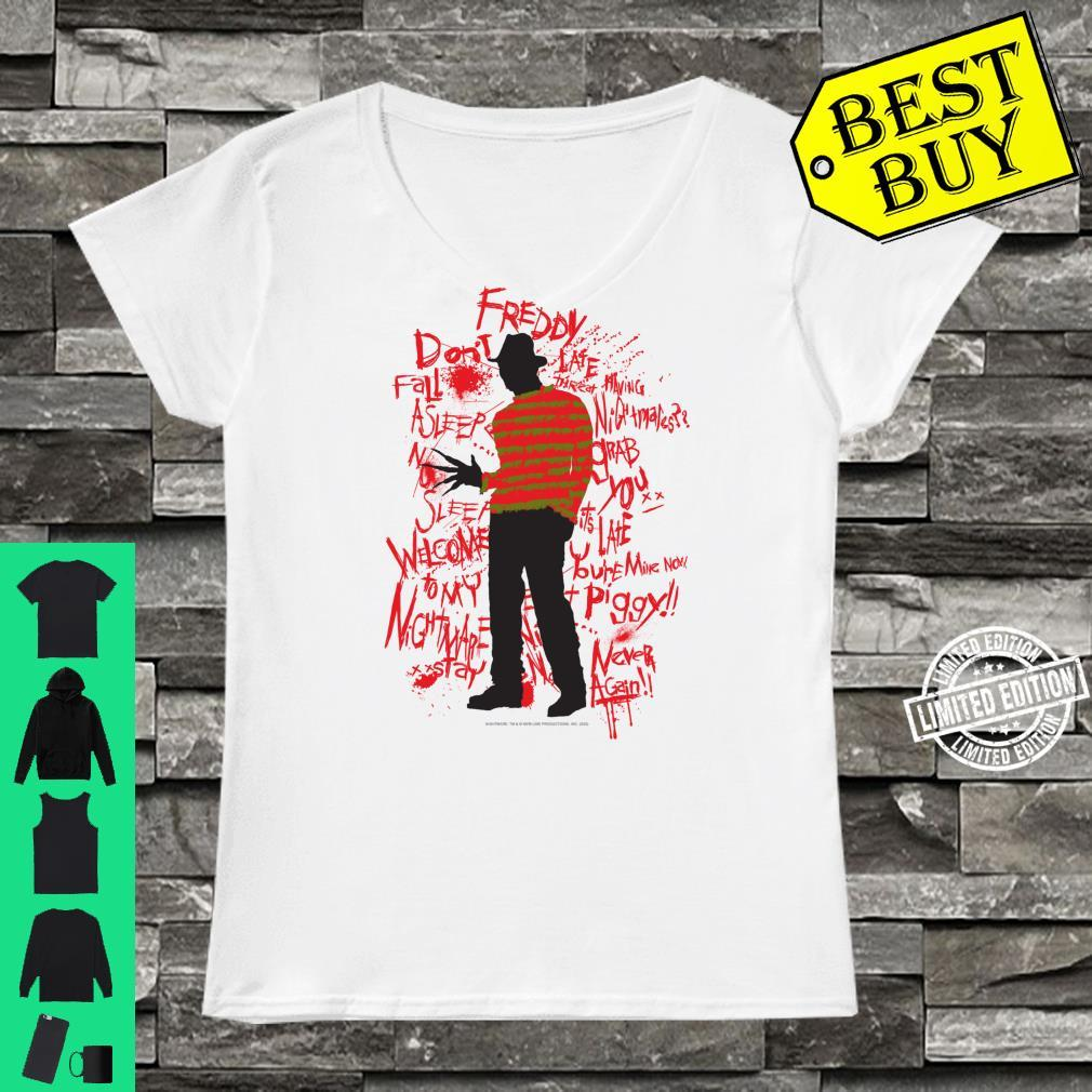 A Nightmare On Elm Street Freddy Quotes Silhouette Shirt ladies tee