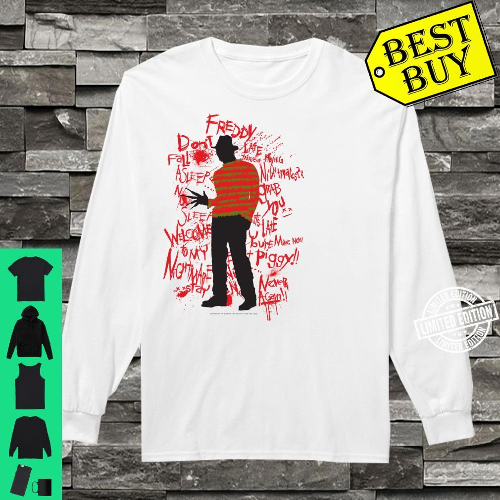 A Nightmare On Elm Street Freddy Quotes Silhouette Shirt long sleeved