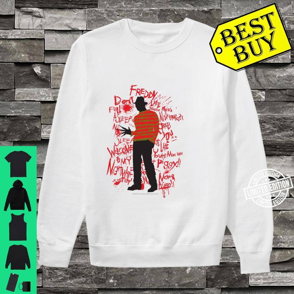 A Nightmare On Elm Street Freddy Quotes Silhouette Shirt sweater