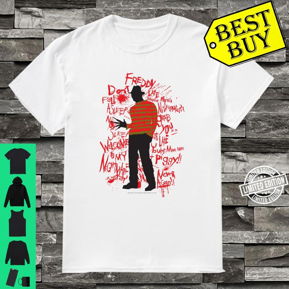 A Nightmare On Elm Street Freddy Quotes Silhouette Shirt