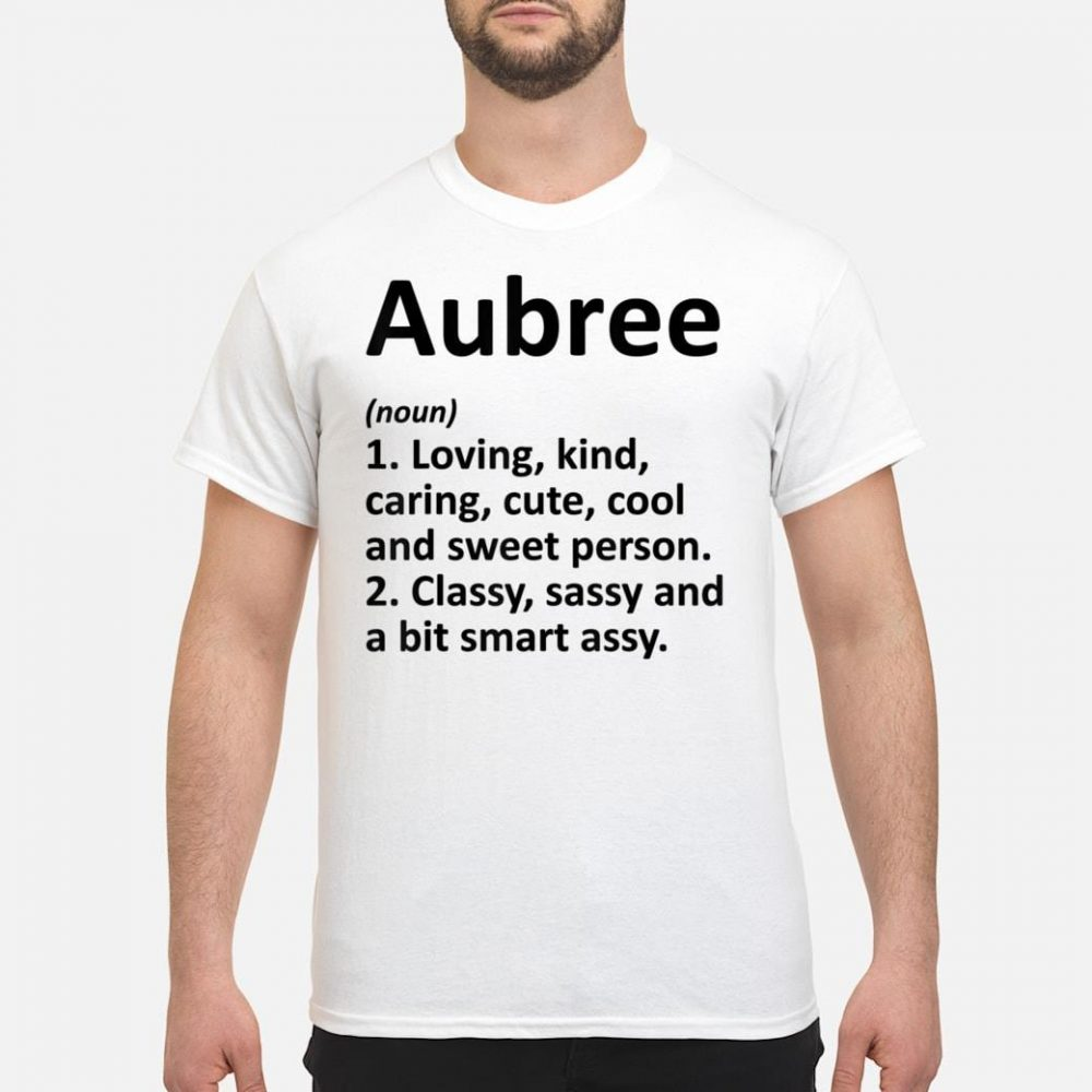 AUBREE Definition Personalized Name shirt