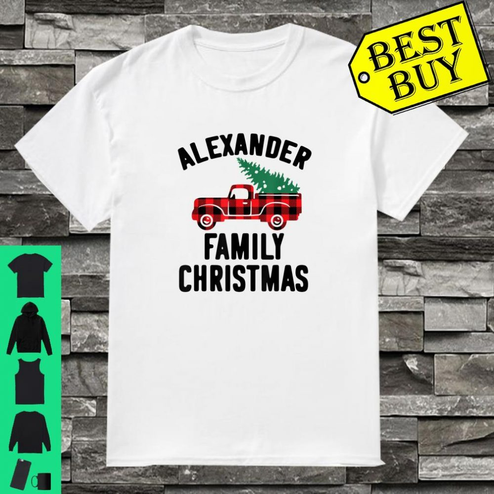 Alexander Family Christmas Vacation Name Gift shirt