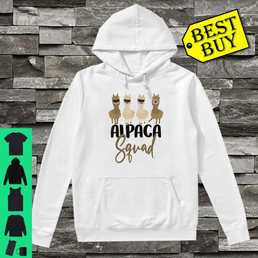 Alpaca Cousin Sibling Student School Gift Llama Squad shirt hoodie
