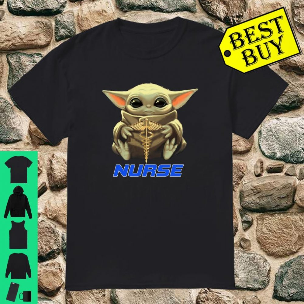 Baby Yoda And Nurse shirt