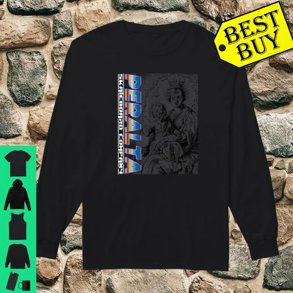 Blessed Virgin Mary holding Baby Jesus Shirt long sleeved