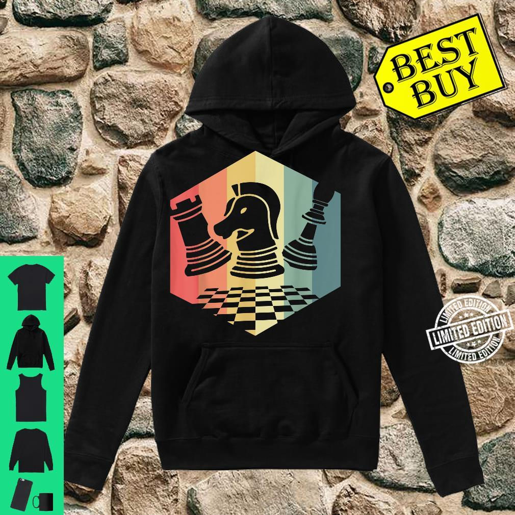 Chess Player Idea Vintage Chess Pieces Pawn Knight Rook Shirt hoodie