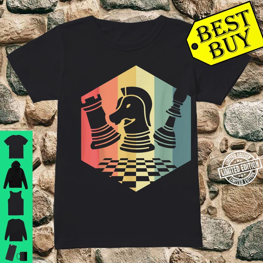 Chess Player Idea Vintage Chess Pieces Pawn Knight Rook Shirt ladies tee