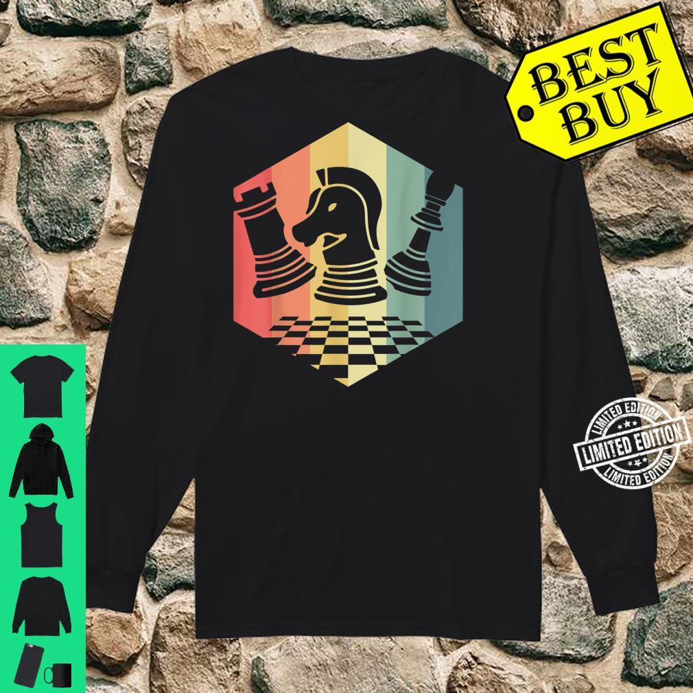 Chess Player Idea Vintage Chess Pieces Pawn Knight Rook Shirt long sleeved