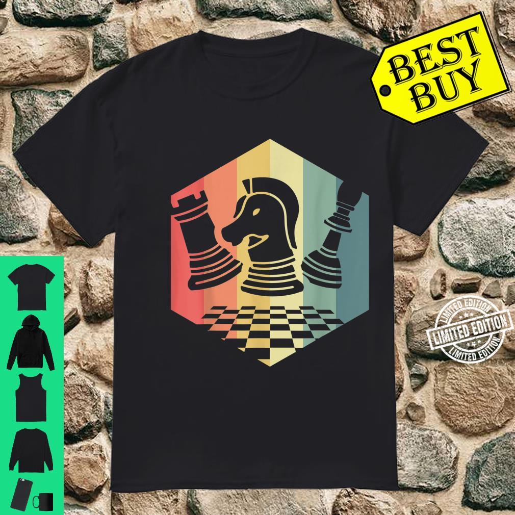 Chess Player Idea Vintage Chess Pieces Pawn Knight Rook Shirt