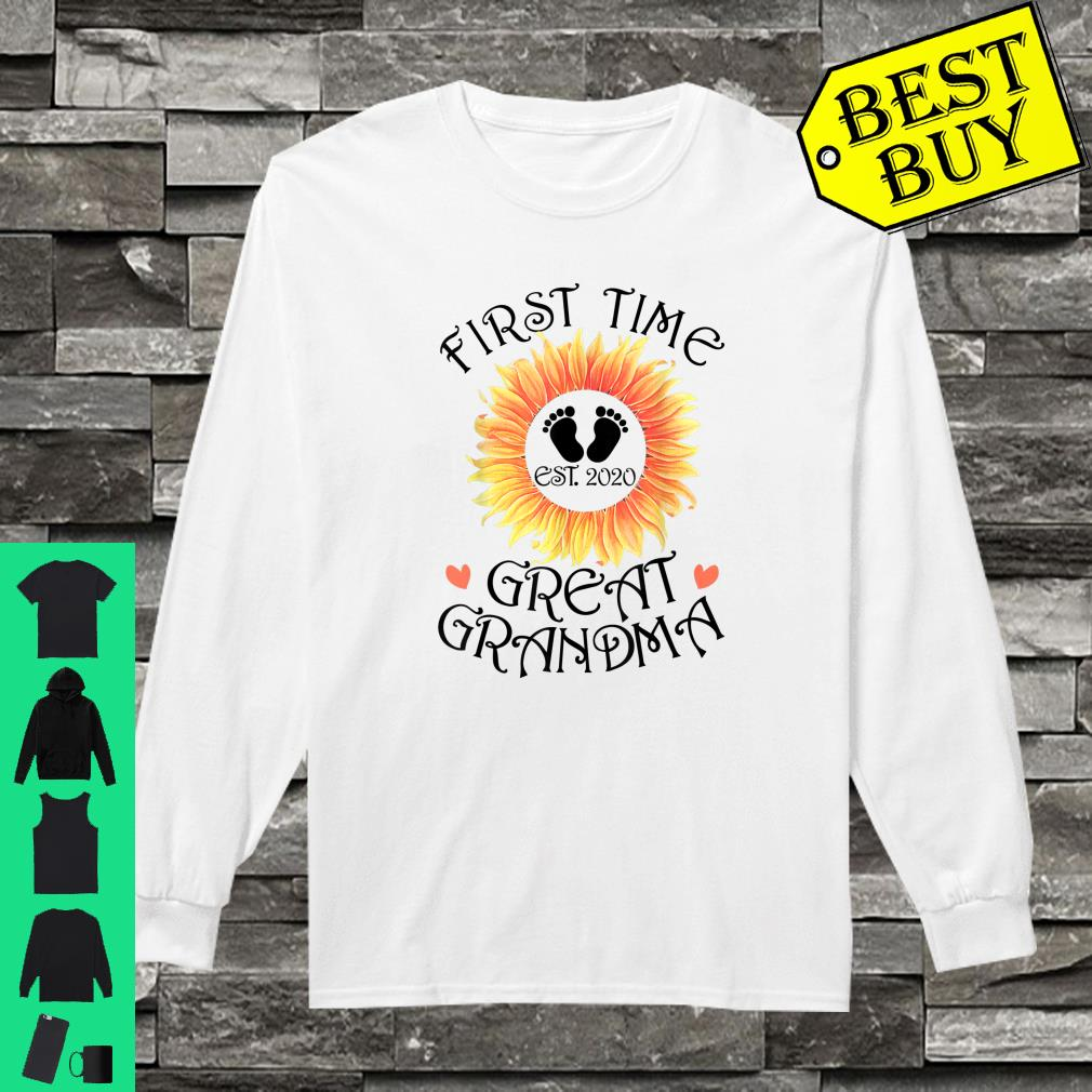 First Time Great Grandma est. 2020 New Grandma To Be Shirt long sleeved