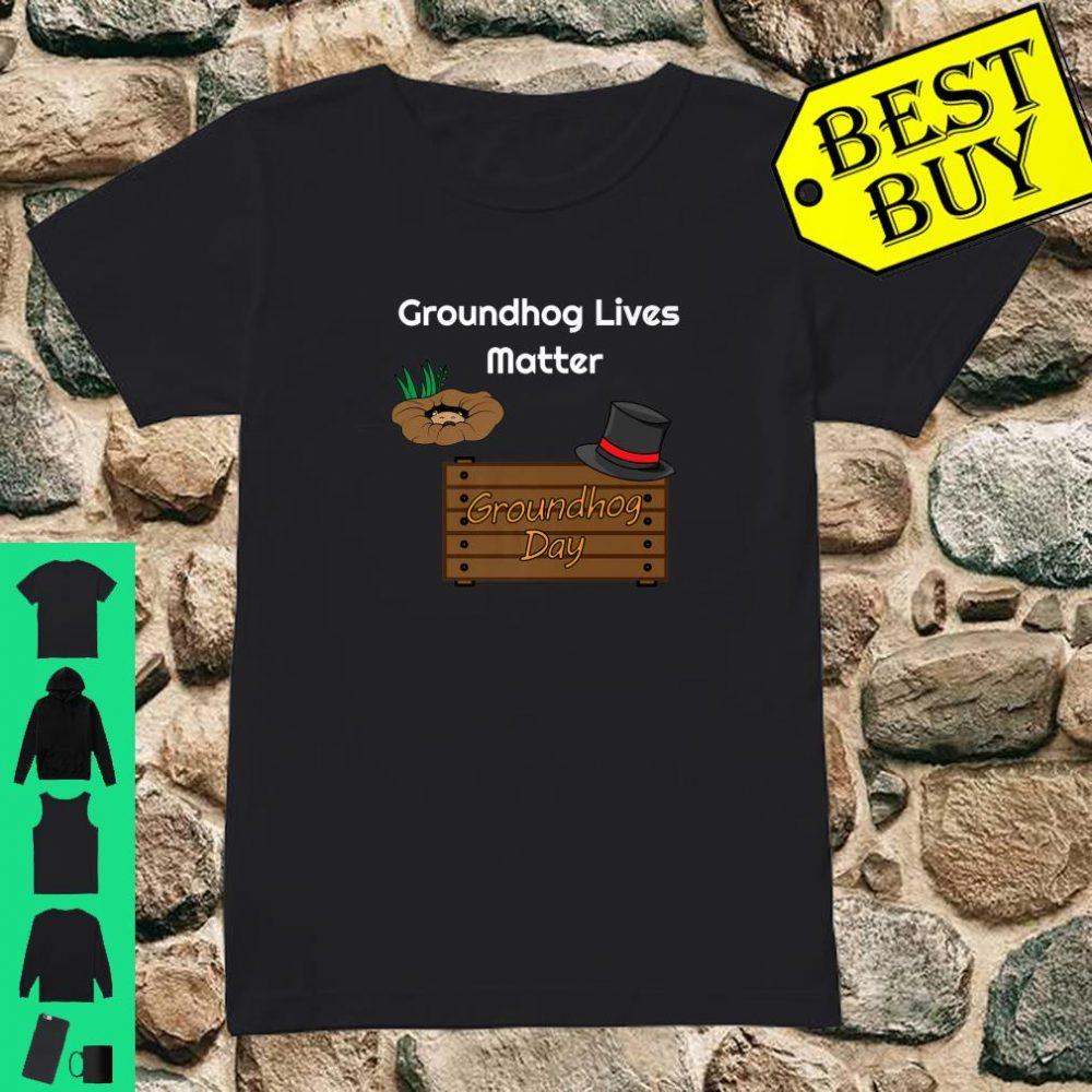 Funny Groundhog Day Woodchuck Stuffed Animal Shirt ladies tee