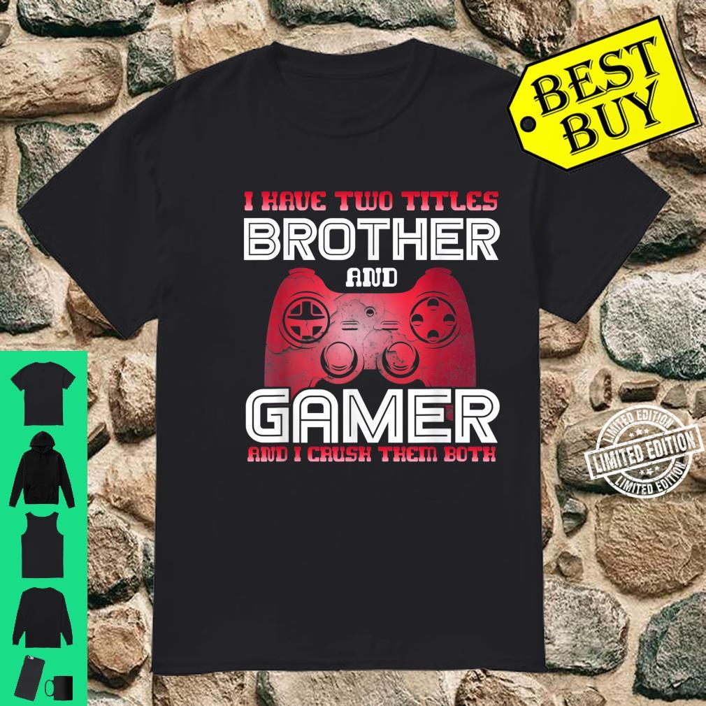 Gamer Vintage Video Games Brother Son Cute Shirt