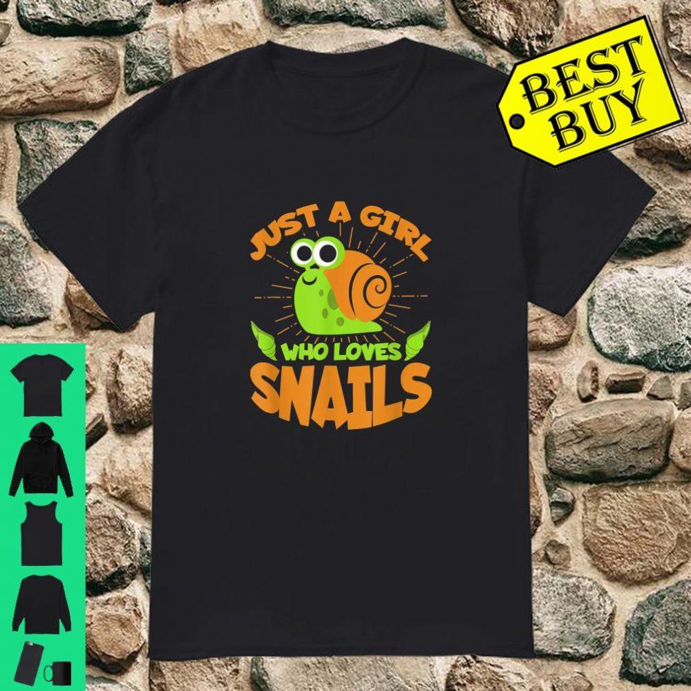 Girl Who Loves Snails Shirt