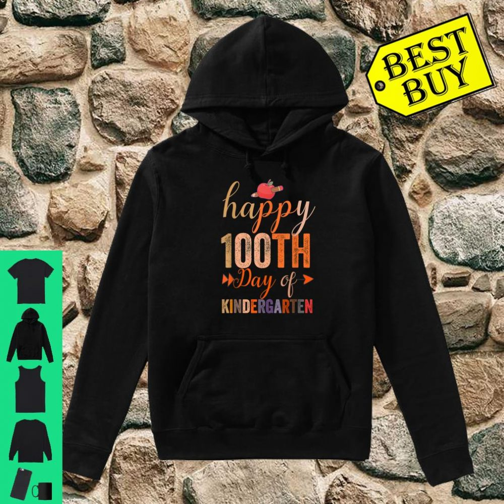 Happy 100th Day of Kindergarten for Teacher And Students shirt hoodie