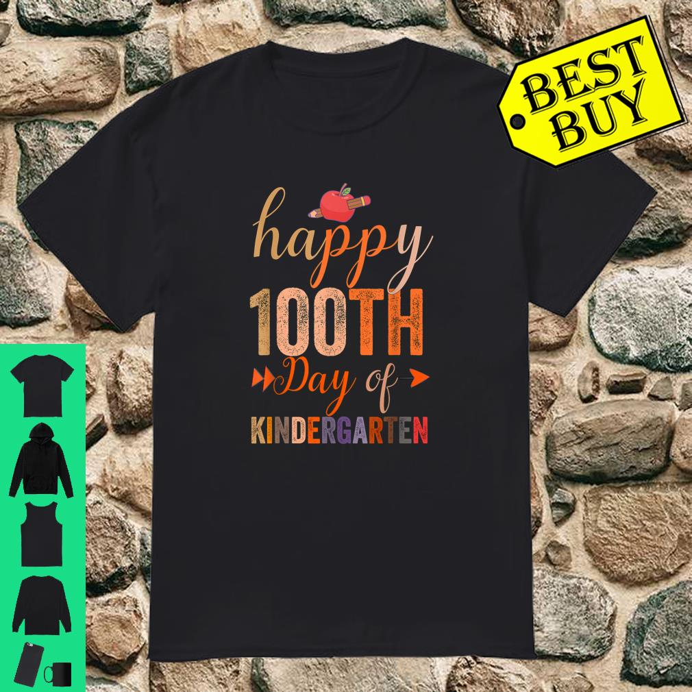 Happy 100th Day of Kindergarten for Teacher And Students shirt