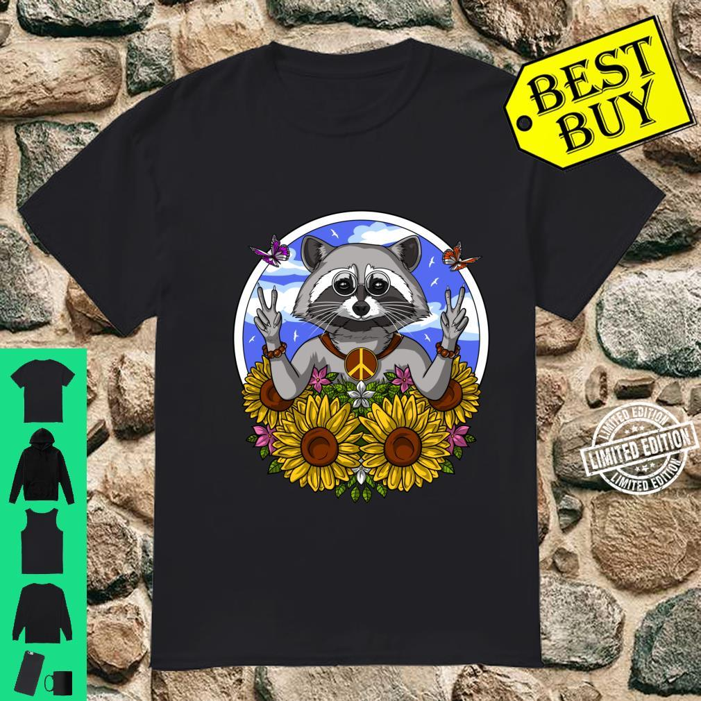 Hippie Raccoon Sunflowers Forest Animal Nature Shirt