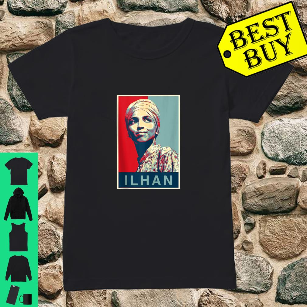Ilhan for Congress - Obama Poster Style shirt ladies tee