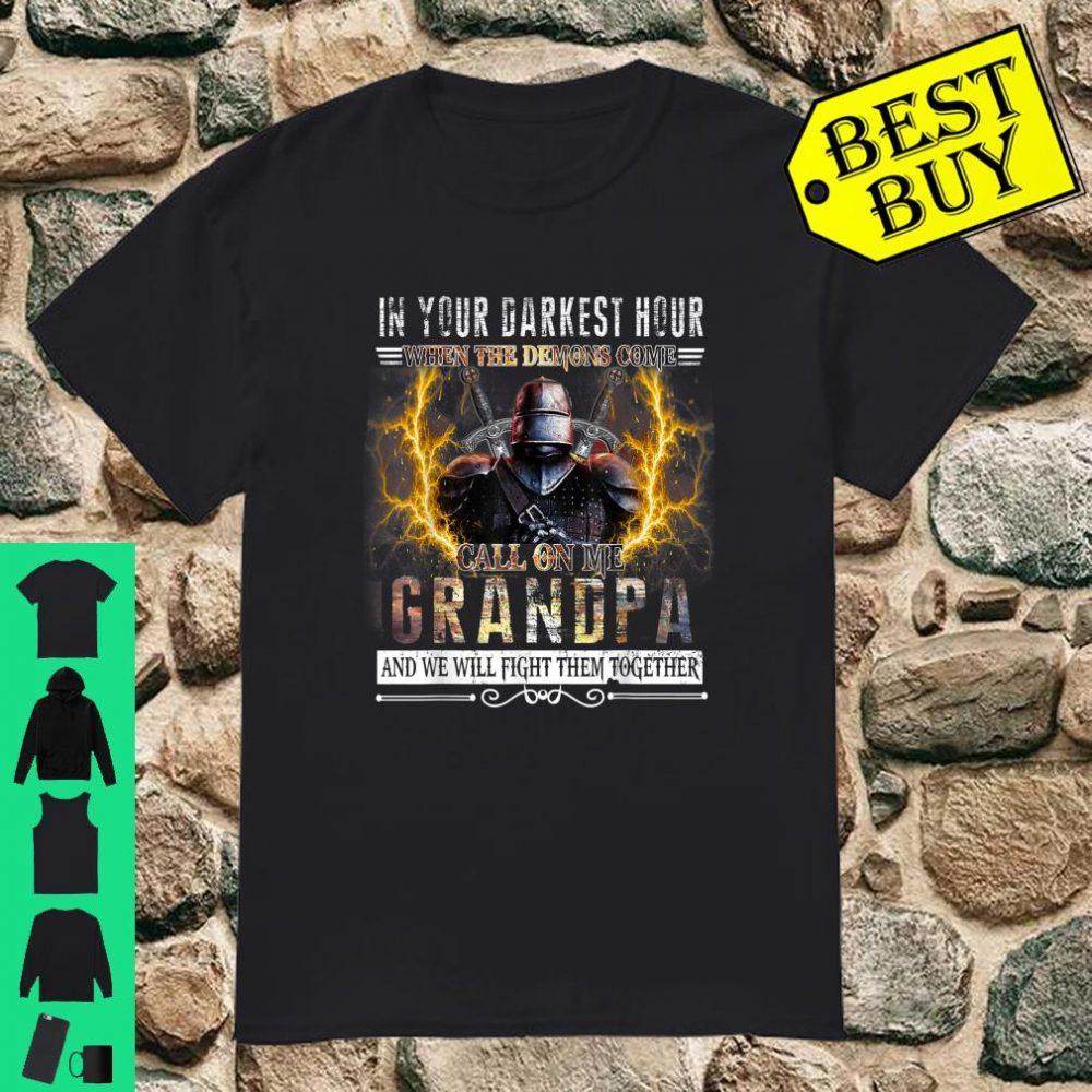 In Your Darkest Hour Knights Templar Grandpa shirt