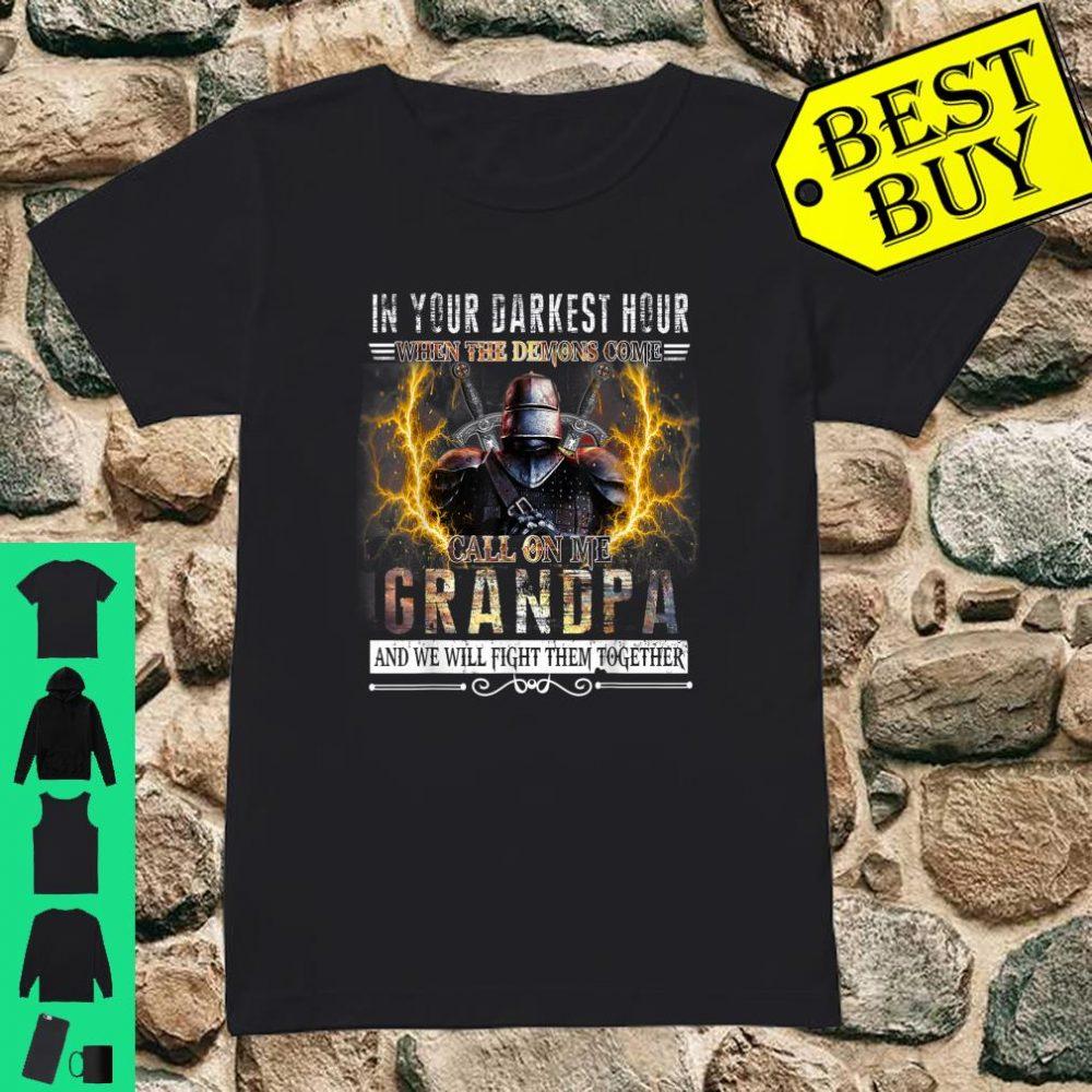 In Your Darkest Hour Knights Templar Grandpa shirt ladies tee
