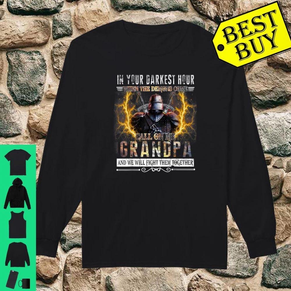 In Your Darkest Hour Knights Templar Grandpa shirt long sleeved