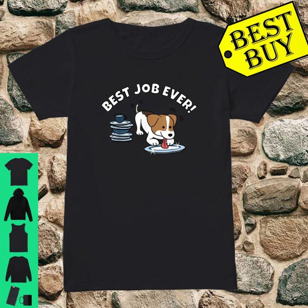 Jack Russell Terrier Best Job Ever Dog Shirt ladies tee