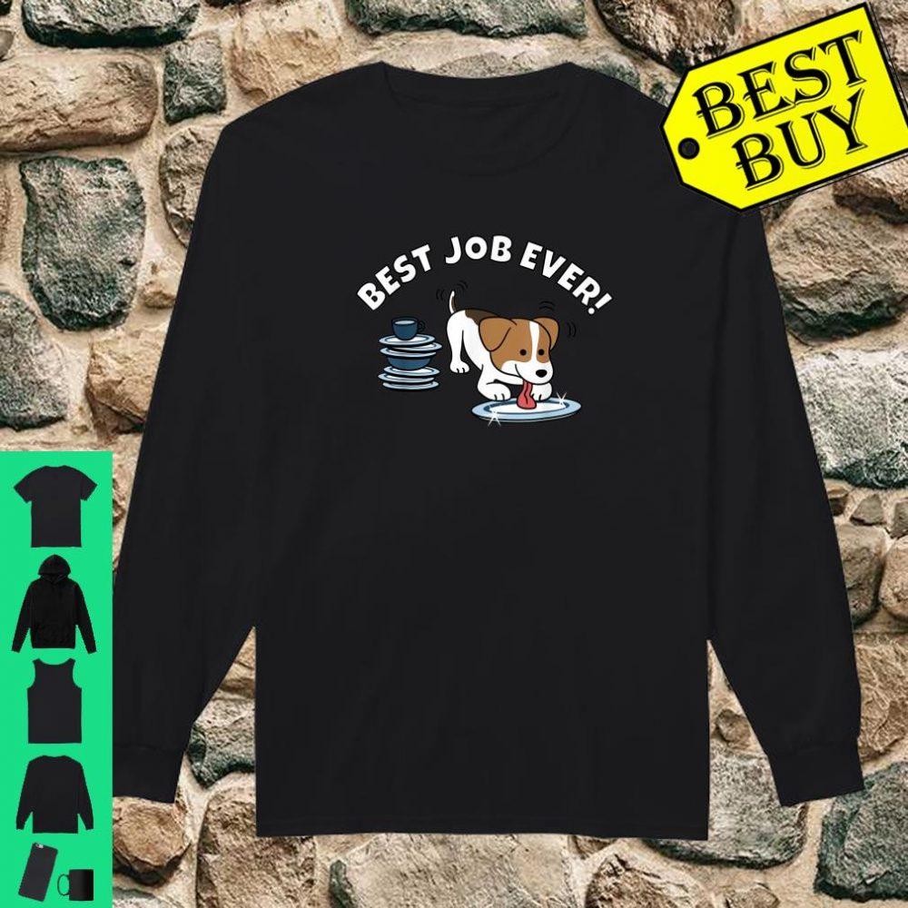 Jack Russell Terrier Best Job Ever Dog Shirt long sleeved
