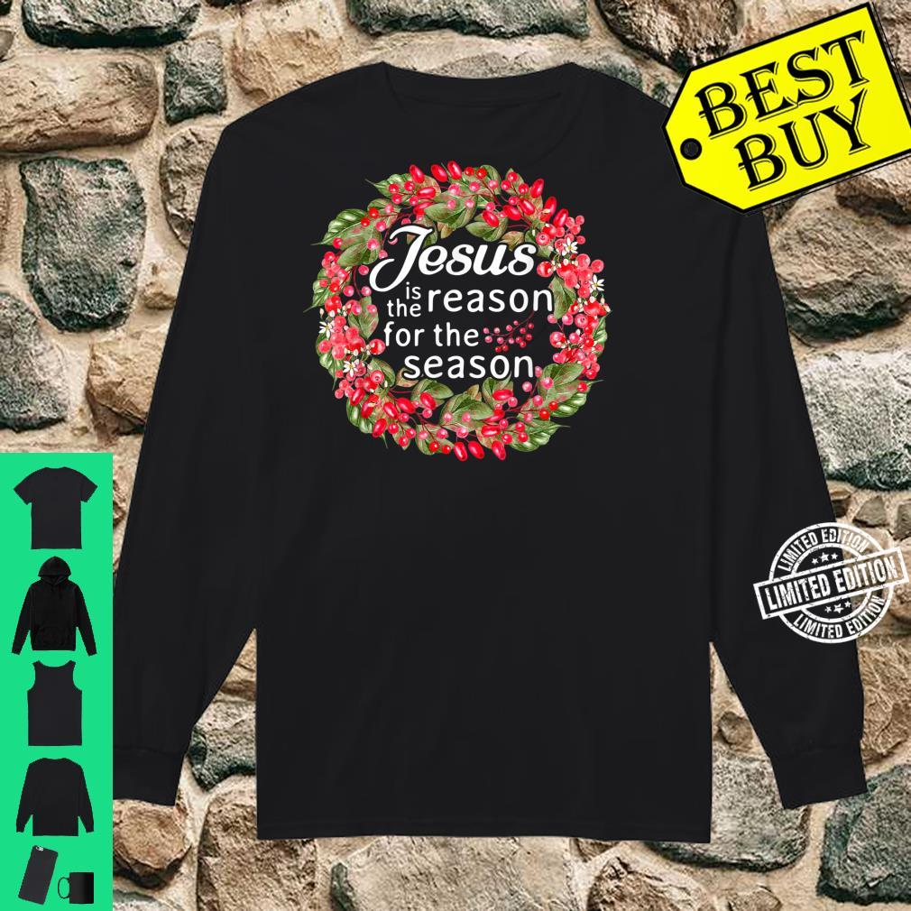 Jesus Is The Reason For The Season Winter Christian Shirt long sleeved