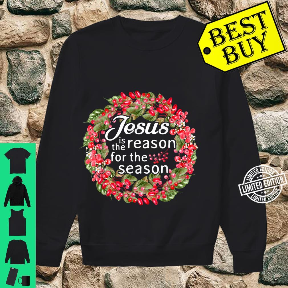 Jesus Is The Reason For The Season Winter Christian Shirt sweater