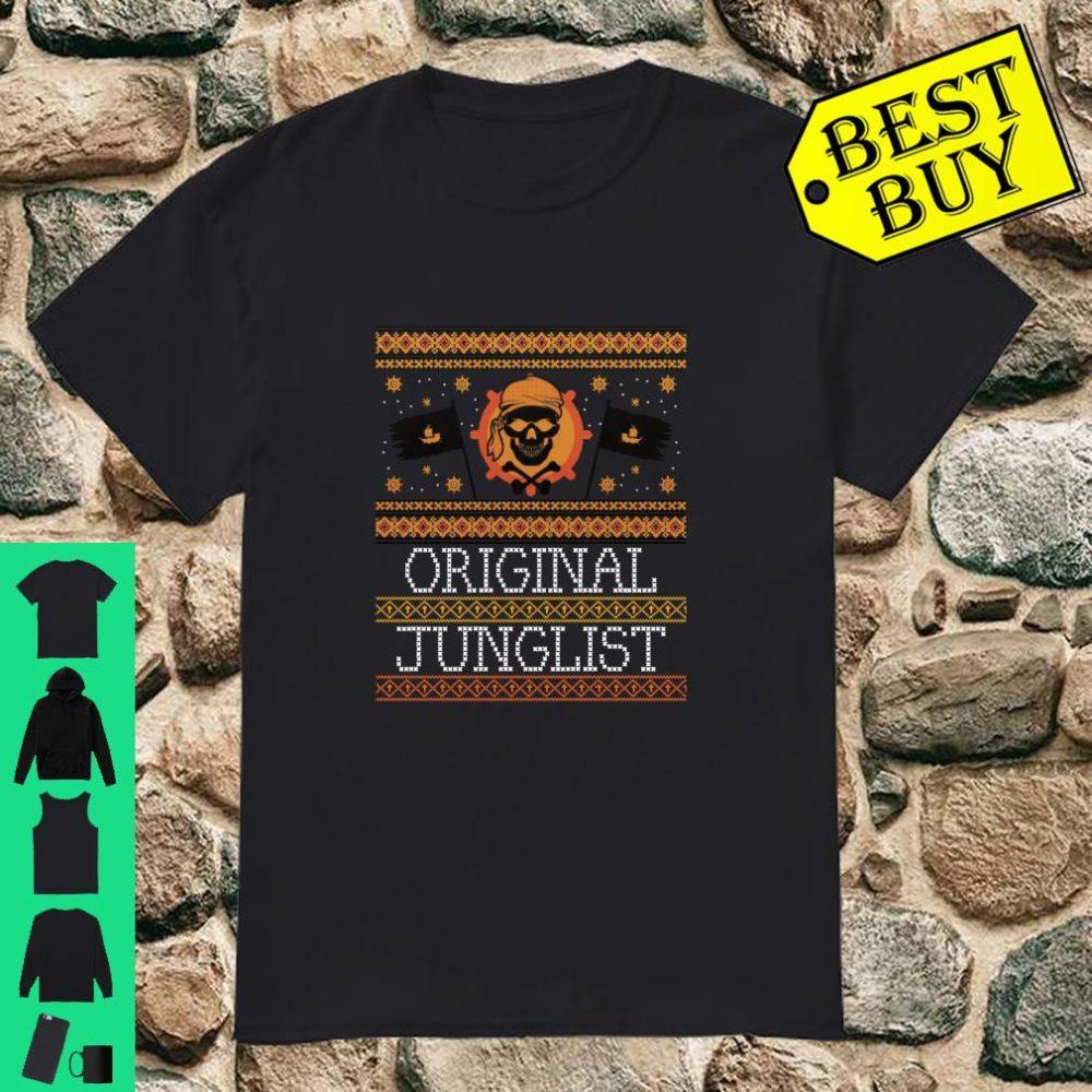 Junglist DnB Christams Rave Skull Drum and Bass Shirt