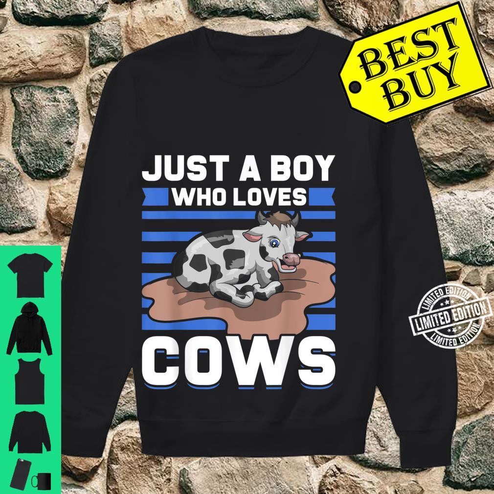 Just A Boy Who Loves Cows Shirt sweater