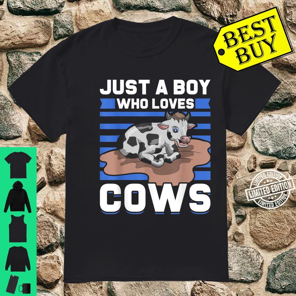 Just A Boy Who Loves Cows Shirt