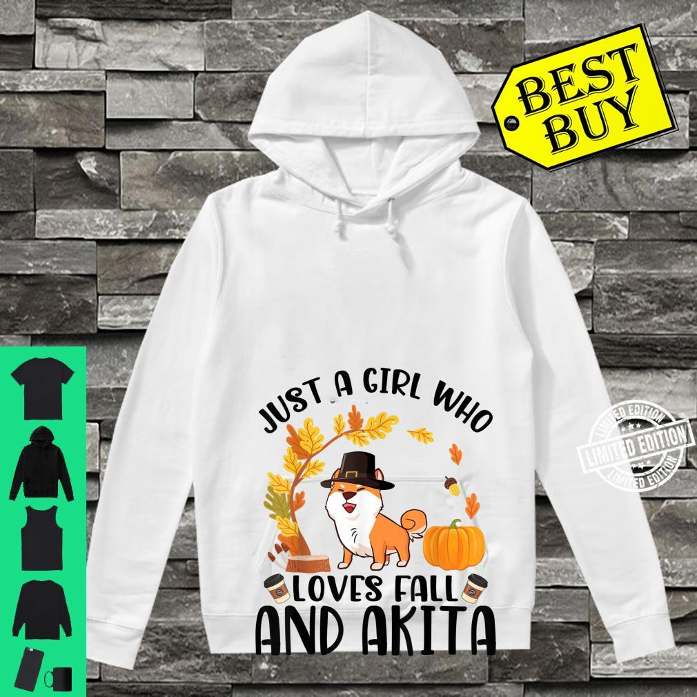 Just A Girl Who Loves Fall And Akita Halloween Thanksgiving Shirt hoodie