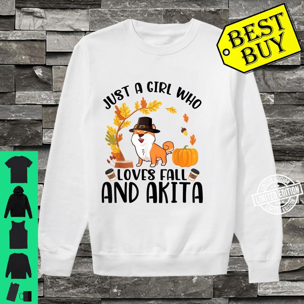 Just A Girl Who Loves Fall And Akita Halloween Thanksgiving Shirt sweater