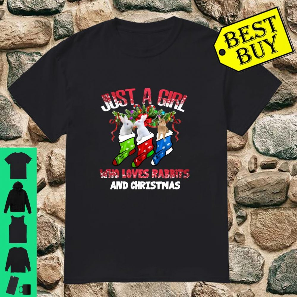 Just A Girl Who Loves Rabbits And Christmas Costume shirt