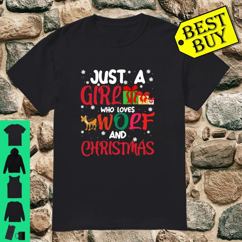 Just A Girl Who Loves Wolf And Christmas Long Sleeve T-Shirt