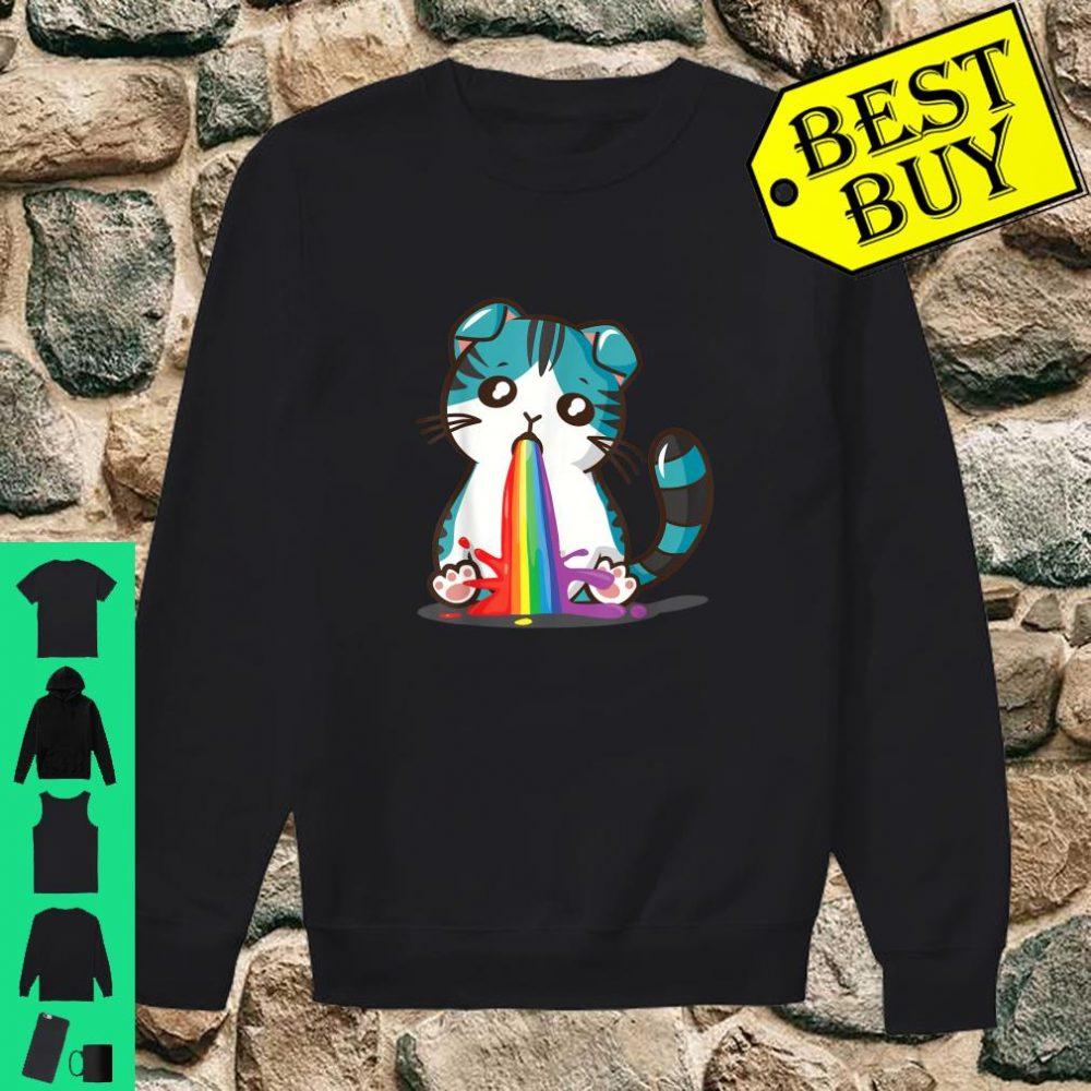 Kawaii Cat Cute Japan Anime Neko Rainbow Puke Kitty Shirt sweater