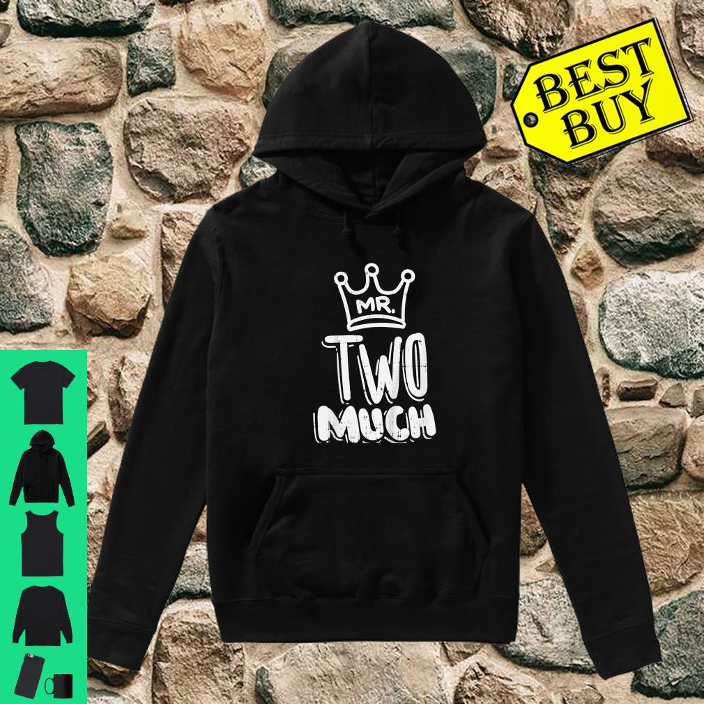 Kids Mr Two Much Fun Second 2nd Birthday Party Toddler Boys Shirt hoodie