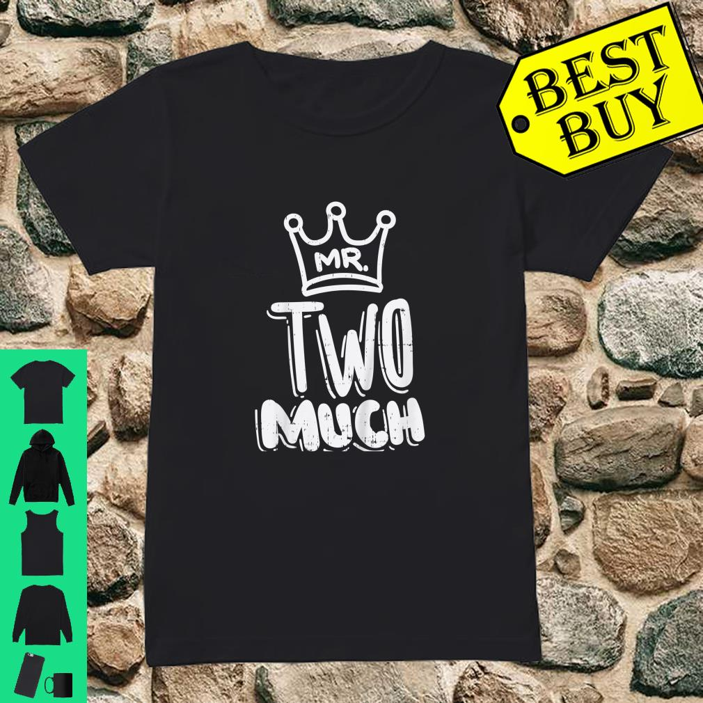 Kids Mr Two Much Fun Second 2nd Birthday Party Toddler Boys Shirt ladies tee